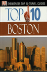 Top 10 Boston guide book cover; red, brown, white