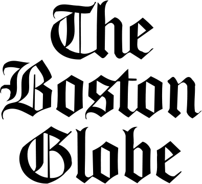 Boston Globe logo; black, white