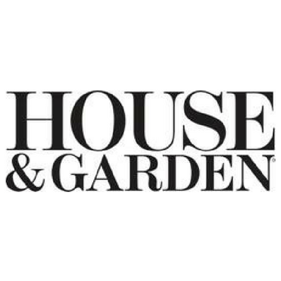 House & Garden Logo; black, white
