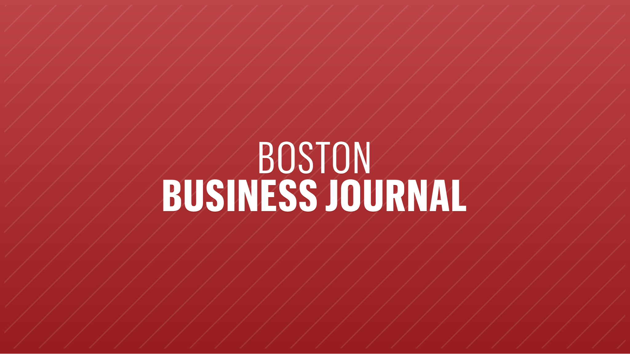 Boston Business Journal logo; red, white