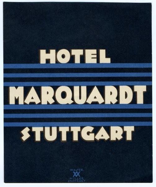 Hotel Marquardt Stuttgart Luggage Label