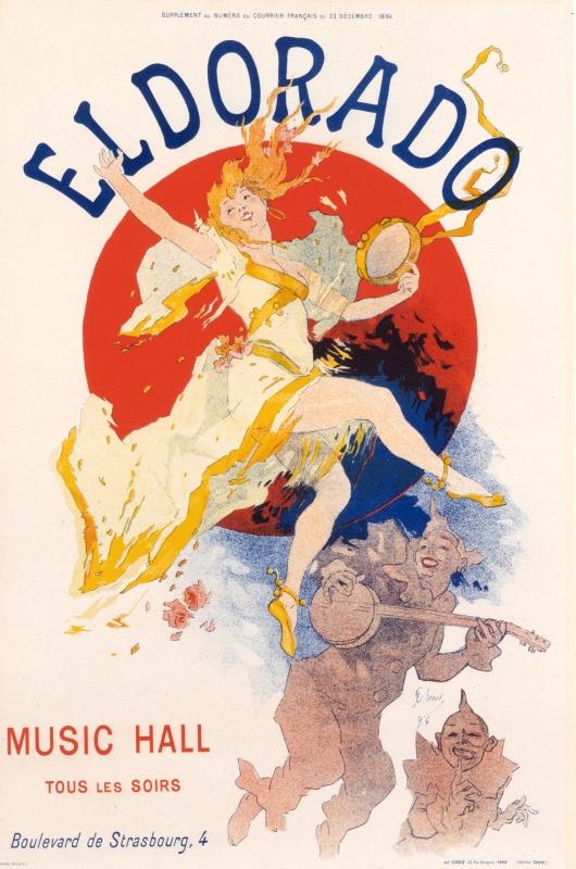Jules Cheret, Eldorado (Courrier Francais edition), 1894